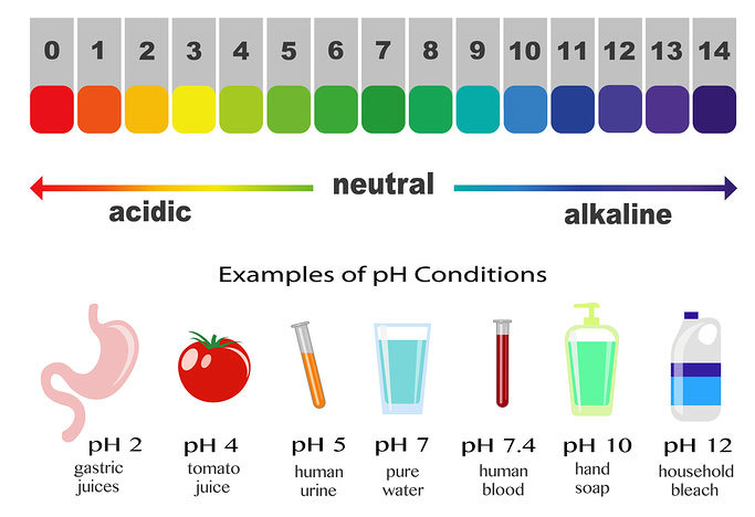 Shows that alkaline and acidic are opposites